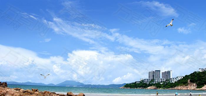 港口摄影背景