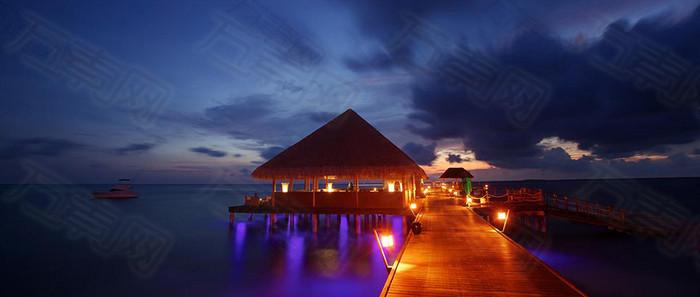 美丽夜景摄影图片