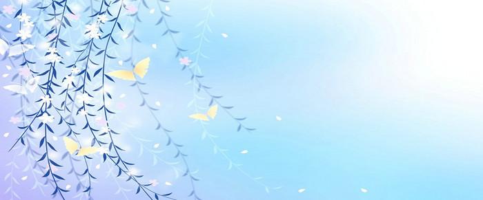 太阳清新光晕背景banner