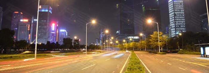 公路夜色背景banner