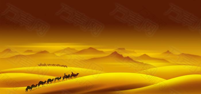 沙漠骆驼背景