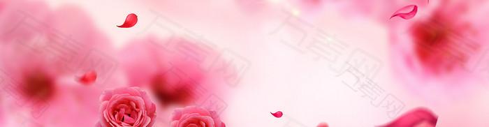 红色玫瑰背景banner