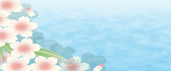 蓝色清爽花朵背景