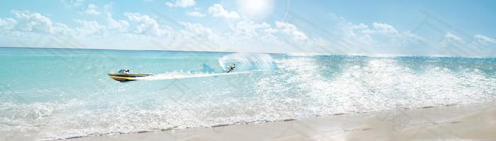 冲浪 banner创意设计