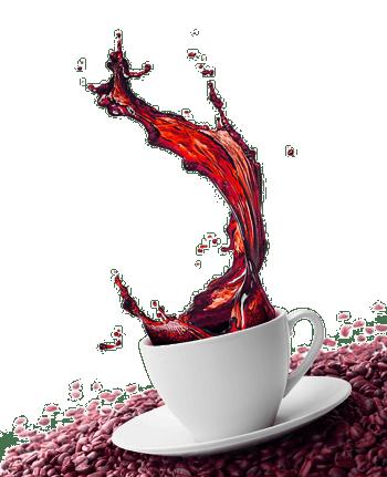 创意水纹咖啡饮料广告