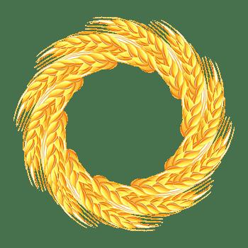小麦环形背景