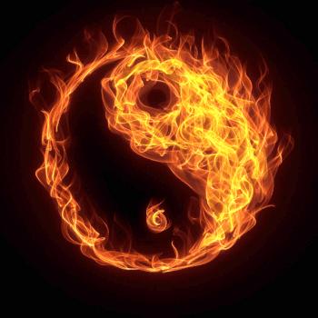高清火焰太极图案图片