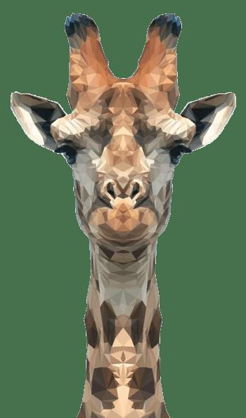 不规则形状长颈鹿图标