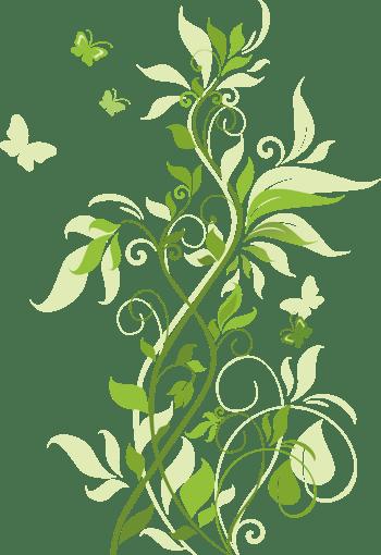浅绿色花纹背景海报素材