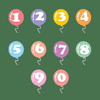 矢量气球数字