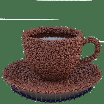 咖啡豆组合的杯子