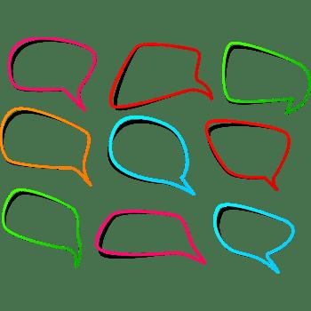 多彩线条对话框
