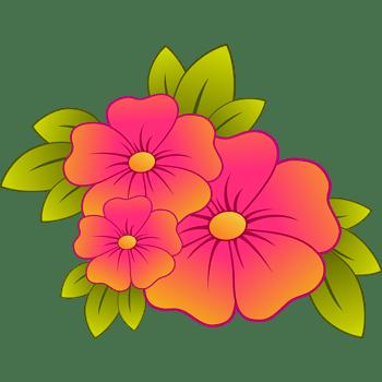 手绘花朵植物红色