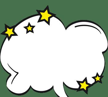 卡通爆炸云对话框