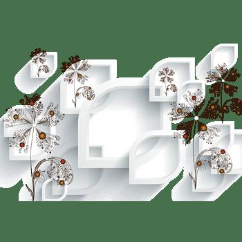 立体花朵背景墙