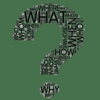 创意字母问号