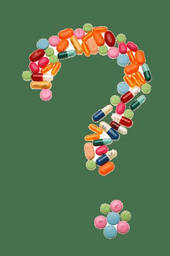药丸堆砌的问号