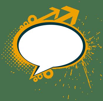 黄色炫彩对话框