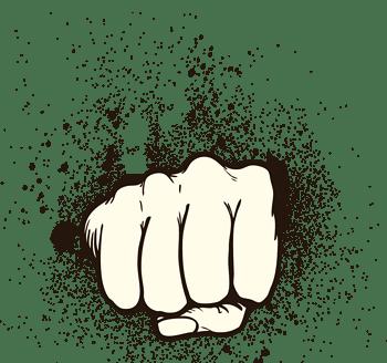 卡通手绘拳头