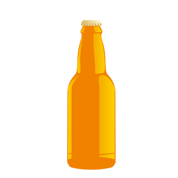 黄色啤酒瓶包装款式