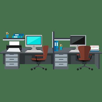 矢量办公室写字楼素材电脑桌