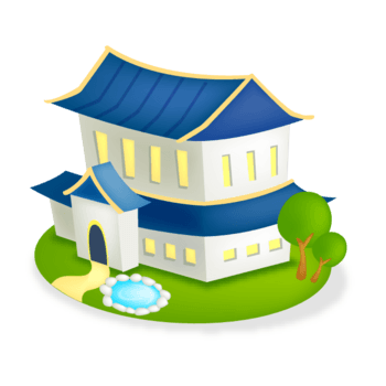 卡通别墅房子