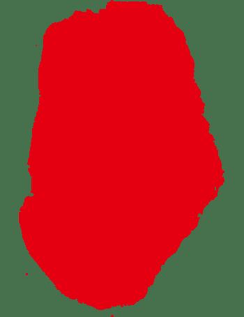 红色不规则形状花边印章