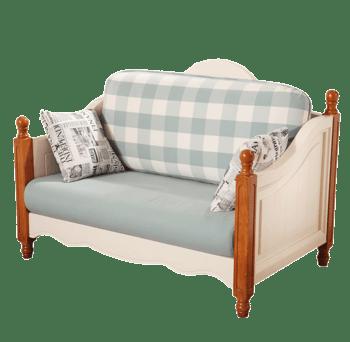 田园沙发组合木质沙发休闲