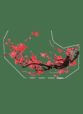 复古水墨傲骨梅花背景装饰图案