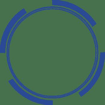 蓝色圆形相框边框