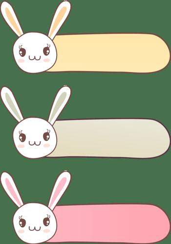 小兔子边框