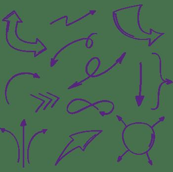 紫色手绘箭头合集