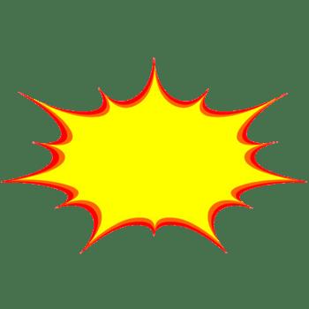 红黄色爆炸对话框