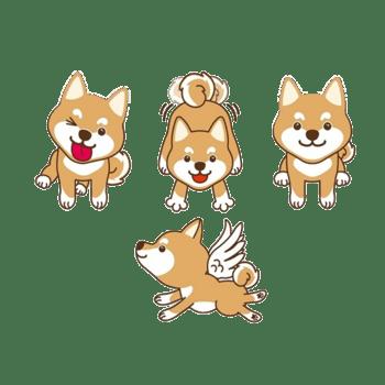 卡通柴犬素材图片