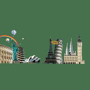 自由女神悉尼歌剧院埃菲尔铁塔旅游素材