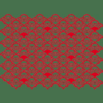 红色中国风祥云波浪背景底纹