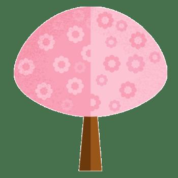 卡通樱树卡通粉色树木