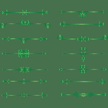 绿色欧式边框