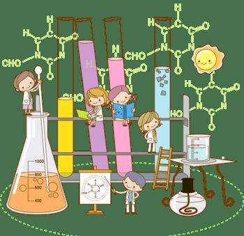 化学实验的学生