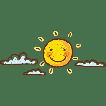卡通太阳素材