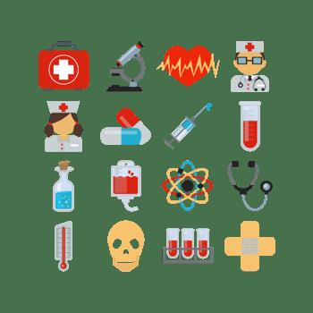 医学相关元素合集矢量