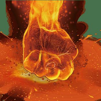 创意火焰拳头