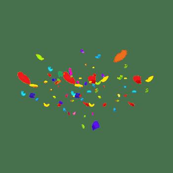 漂浮礼花碎片