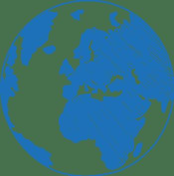 蓝色手绘地球