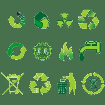 绿色环保标志循环使用节约用水标志
