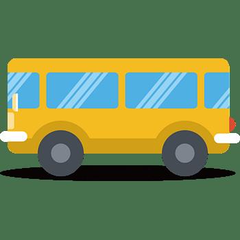 平面巴士矢量图