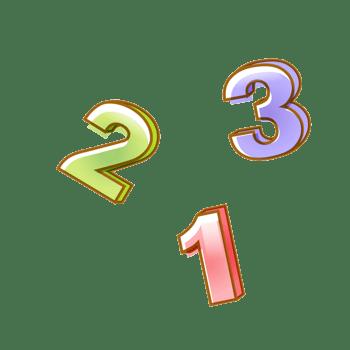 彩色卡通数字123