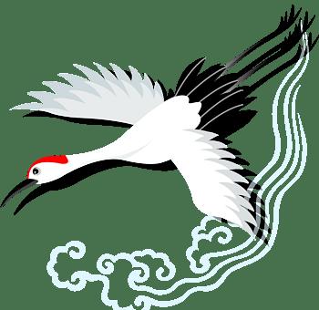 仙鹤白鹤长寿素材