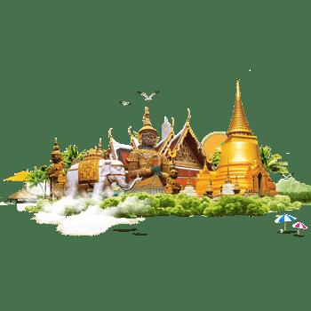泰国特色建筑泰国旅游素材