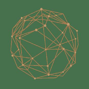 点线组成的几何圆形免抠图